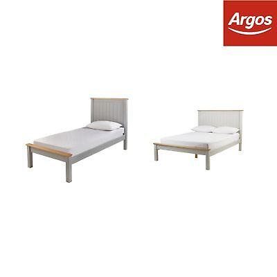 Argos Home Grafton Two Tone Grey Bed Frame - Choice of Single / Double / King