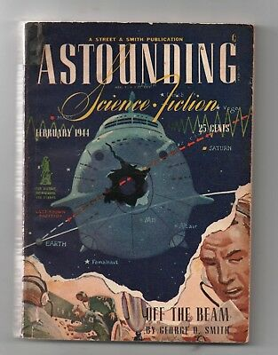 ASTOUNTING Science-Fiction Février 1944 - n°6 volume 32. ASIMOV. Pulps. SF