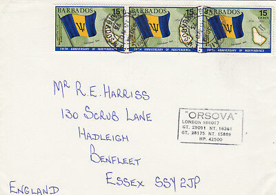 (14302) CLEARANCE Barbados Cover Orsova cachet 16 November 1973 FAIR/GOOD