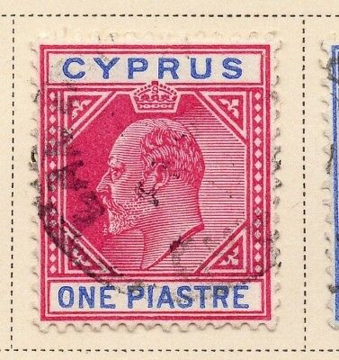 Cyprus 1904 Early Issue Fine Used 1p. 220330