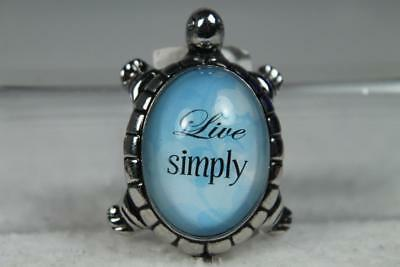 Lucky Little Message Turtle 'Live Simply' NEW #ER11781 New With Tag!