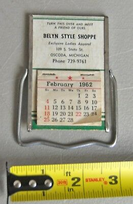 1962 OSCODA Michigan MI 109 State St. advertising mirror lot bx4