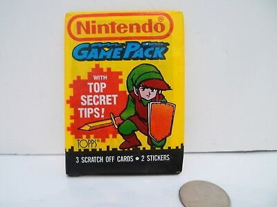 1989 Topps Nintendo Game Pack single Wax Pack ZELDA on Front !!!