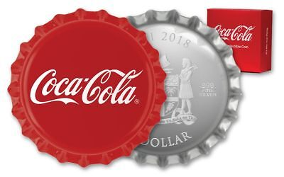 2018 Fiji 1 Dollar Coca-Cola Bottle Cap - Proof .999 Silver-Shaped Bottle Cap