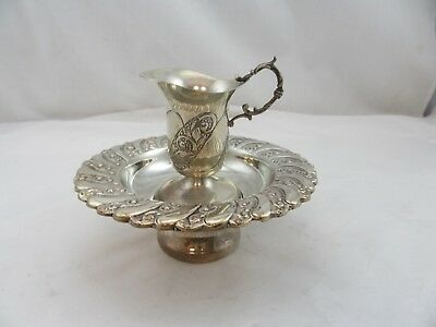 Sterling Silver 925 Mayim Achronim Hand Washing Cup Last Water Set Used