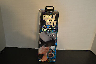 Rock Solo Bluetooth Karaoke Microphone iOS/Android Tzumi Model # 4958 B-2 NEW