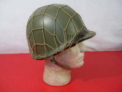 WWII US Army M1 Helmet Fixed Bale Front Seam w/Westinghouse Liner - Complete #2