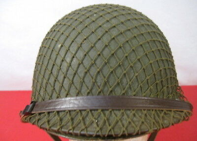 WWII US Army M1 Helmet Swivel Bale Front Seam w/Westinghouse Liner Complete #1