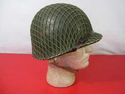 WWII US Army M1 Helmet Swivel Bale Front Seam w/Westinghouse Liner Complete #3