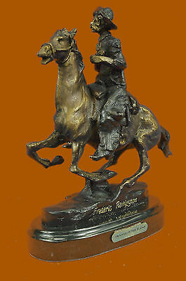 Close Out FREDERIC REMINGTON TROOPER OF THE PLAINS BRONZE STATUE FIGURE FIGURINE