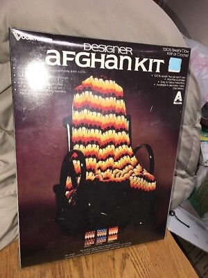Vintage Vogart Crafts Designer Afghan Kit 5305 Bears Claw Factory Sealed