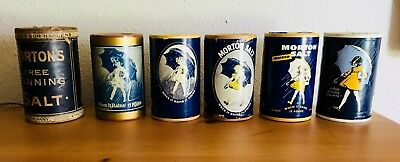 MORTON SALT  vintage box set 1900 to present