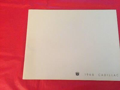 k. 1968 Cadillac Car Dealer Sales Brochure Eldorado DeVille Fleetwood