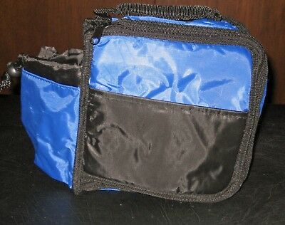 New Quaker Snack Bars Blue & Black Insulated Lunch Tote