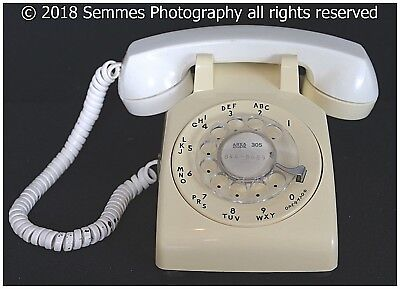 Vintage Original Basic White Western Electric-Bell Rotary Dial Phone-Telephone