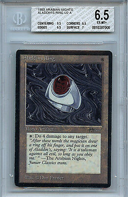 MTG Arabian Nights Aladdin's Ring BGS 6.5 Ex MINT+ 9.5 Centering 7000