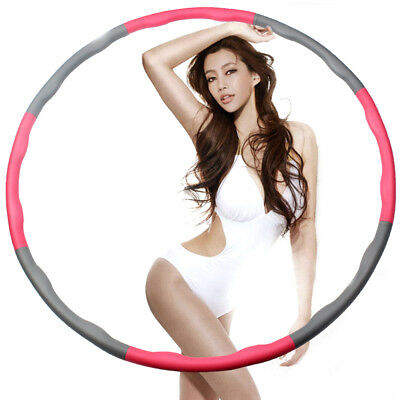 Weighted Hula Hoop Fitness Exercise Abs 1kg Foam Padded Workout Hoop Fashion