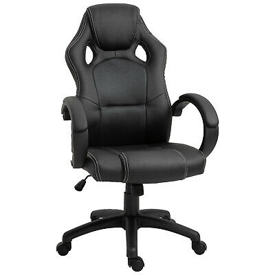 Racing Office Chair PU Leather Executive Desk Chair Gaming Swivel