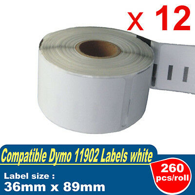 12 Rolls Quality Label for DYMO LabelWriter-DYMO CODE:99012 36mm x 89mm 400