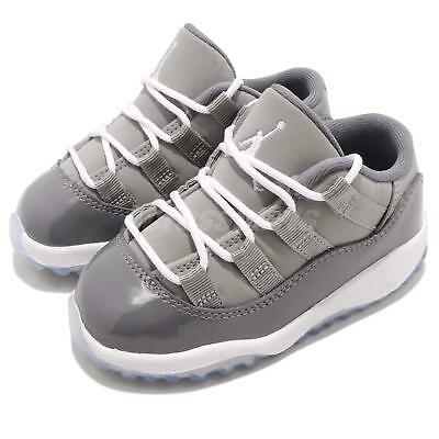 48ec015da1b Nike Air Jordan 11 Retro Low BT TD XI AJ11 Cool Grey Baby Infant Shoe 505836