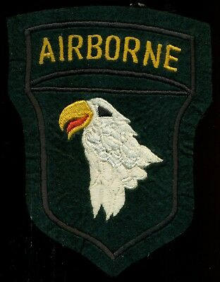 US Army WW2 101st Airborne Division Felt Patch S-12