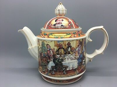 James Sadler Teapot, Dickens Series, A Christmas Carol Perfect Display Condition