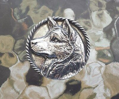 Family Dog Animal 1 Purebred Siberian Husk Pewter Pin All New