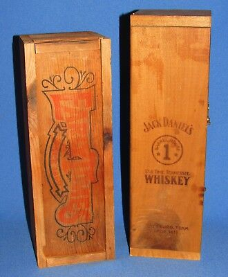 Jack Daniels Whiskey Barrel House 1+ Early Times Whiskey Wooden Boxes Lot Of 2