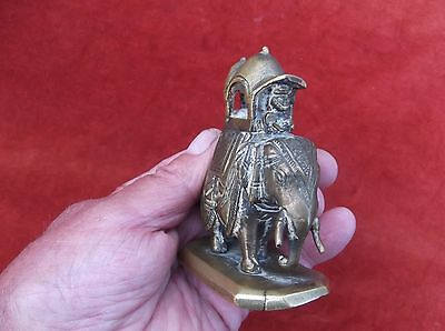 Antique Heavy Brass Desktop Elephant Paperweight/indian Brass Elephant/eastern E