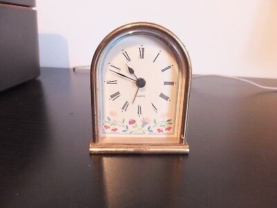 Table Top Clock - Brass  Quartz Made In West Germany - Working