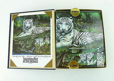 New Siegfried & Roy White Tiger T Shirt XL Cubs With Gift Box And Picture Mirage