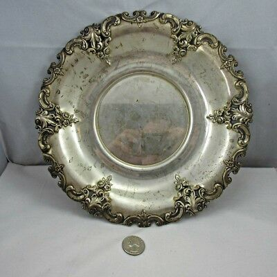 Antique Wallace Sterling Silver Grande Baroque 5971 Sandwich Plate