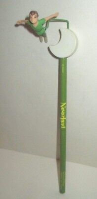 Disney Peter Pan Flying Over The Moon Neverland Pvc Spinning Pencil Topper