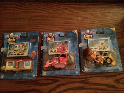 Bob the Builder Take Along Lot of 3 - Scoop, Muck, Bob's Mobile Home New in Pkgs
