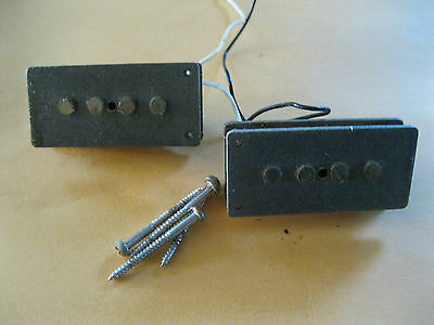 1981-1982 70's 80's FENDER Precision Bass  PICKUP Gray Bobbins P-Bass Pickups