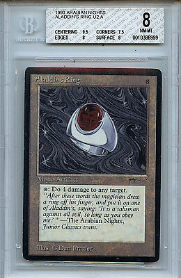 MTG Arabian Nights Aladdin's Ring BGS 8.0 (8) NM-MT  9.5 Centering 6999