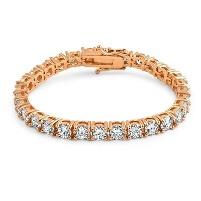 6mm Rose Gold High End CZ Iced Out Mens Tennis Bracelet