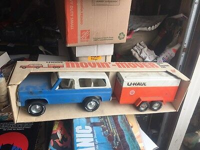 NYLINT U-HAUL BLUE chevy blazer Truck U Haul Box Trailer 4157 Rare Movin  Mover