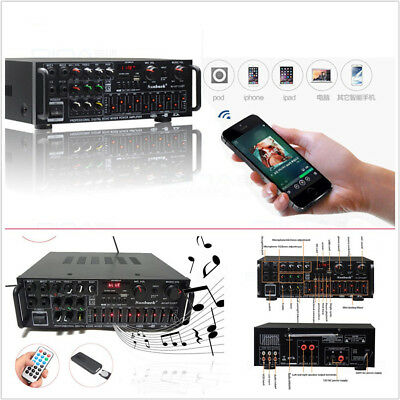 500W-2000W Bluetooth 2.0 Channel Car SUV Hifi Audio Power Amplifier 326BT+Remote