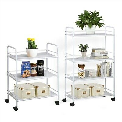 3/4 Shelf Large Salon Beauty Trolley Cart Spa Storage Dentist Wax Treatments UK