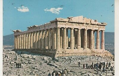 Athens. The Parthenon. 1979 postcard in fair condition. Written & posted