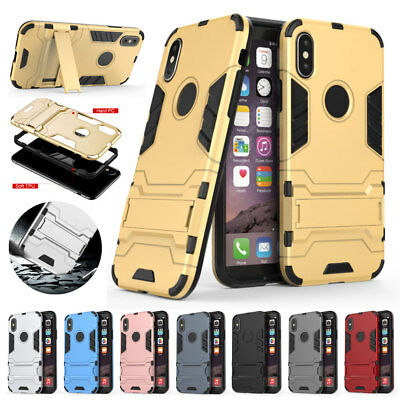 NEW For iPhone X 10 Armor ShockProof Rugged Bumper Silicone 360 Hybrid Case Cove