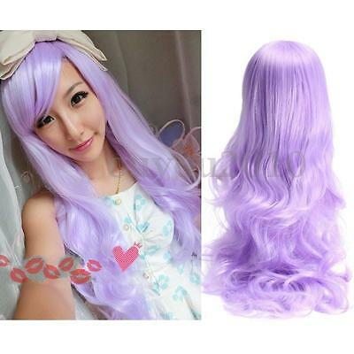 Women Long Curly Wavy Full Hair Cosplay Party Anime Lolita Wigs / Wig 80CM
