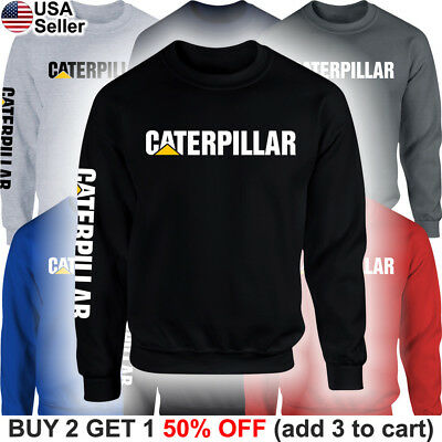 4bd56f098c6575 Caterpillar Sweater Sweatshirt Shirt CAT Tractor Construction Equipment Men