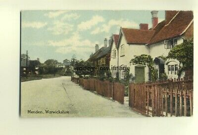 tp6835 - Warks - Terraced Cottages in the Village of Meriden in 1910 -  Postcard