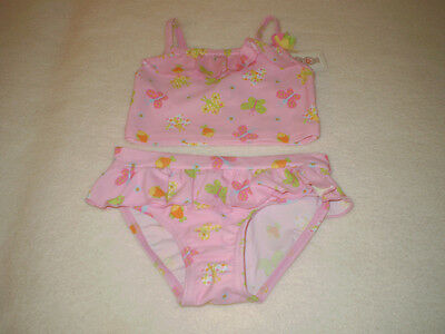Target Pink With Butterflies And Flowers 2 Piece Bathers Size 0 New