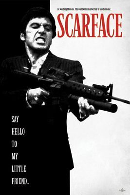 Poster SCARFACE (Al Pacino) - Say Hello ... - bw & red 61x91,5cm NEU 57471