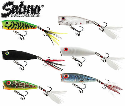 Salmo Fury Pop Surface Lure 7cm 12,5g - Popper Wobbler, Barschköder, Rapfenköder