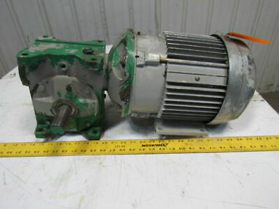 Grant Size 300 Style STF 20:1 Ratio Worm Gear W/3HP Electric Motor 230/460V 3Ph