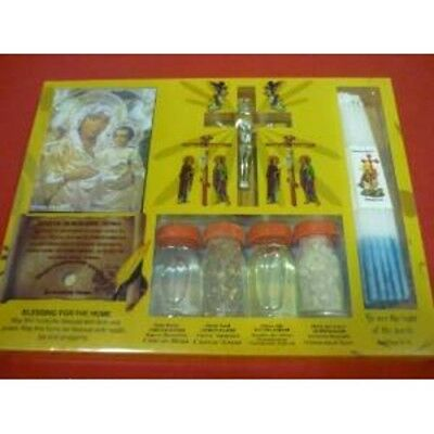 Zuluf Holy Land Set of Holy Water,Soil,Oil,Insence Holy Candle Mary Icon and